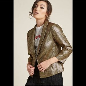 Lace & Mesh Women's sequin Jacket blazer